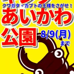 2021年も!あいかわ公園のカブト・クワガタの王様・女王様をさがそう!7/10(土)~8/9(月)