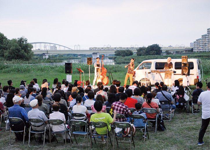 「多摩川夕涼みコンサート」 @川崎市多摩区 二ヶ領せせらぎ館
