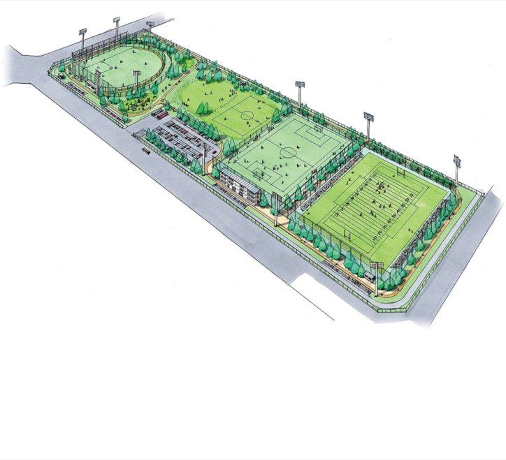 11月に一部供用開始「スポレク公園」在日米陸軍相模補給廠の共同使用区域内