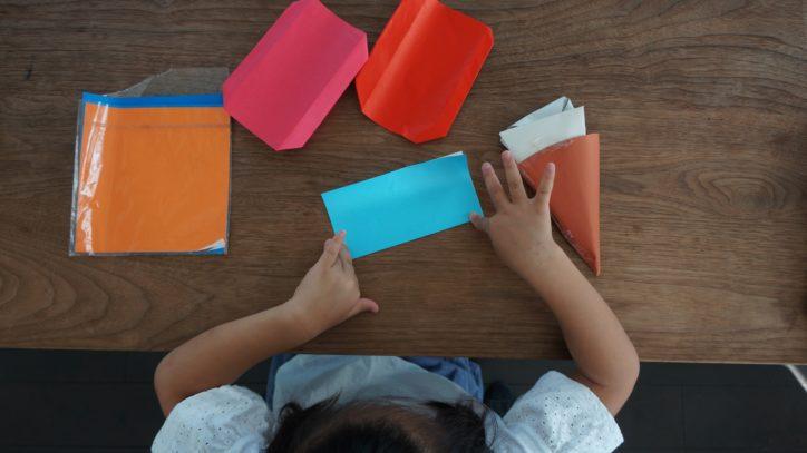 折り紙で十五夜イベント @瀬谷中央公園内 こどもログハウス