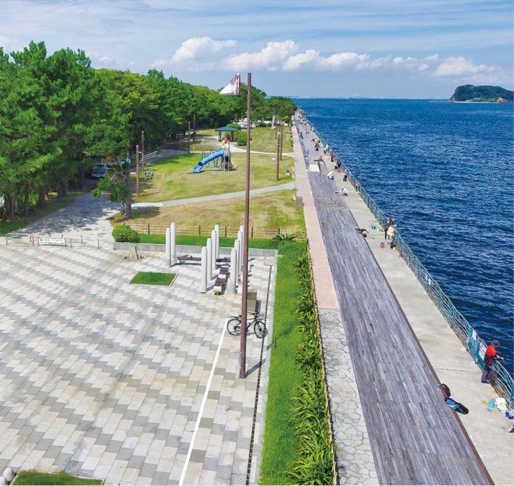 横須賀市平成町の海辺つり公園 1年ぶり9月11日より再開