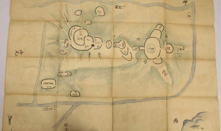 相模原緑区の山城「相州津久井城図」を特別公開@相模原市立博物館
