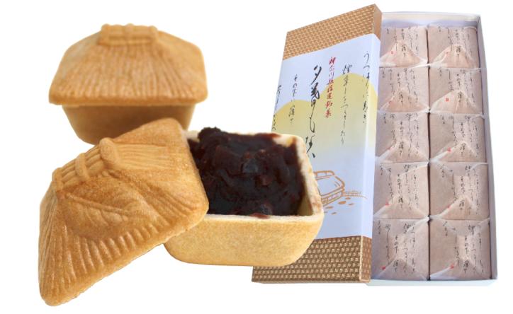 和菓子「青柳(あおやぎ)」:花みずき通り商店会で大抽選会(秦野市)