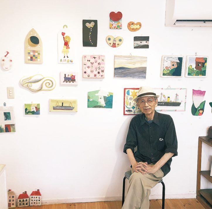 87歳 空き箱でアート 環境保護の思い伝える@六角橋商店街「あけ/たて」