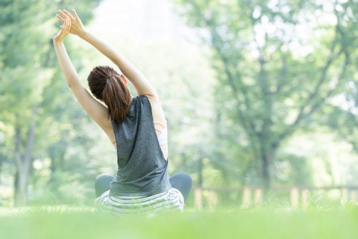 体幹などを鍛えるエクササイズ「ピラティス」@瀬谷本郷公園
