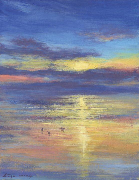 七里ガ浜の画家 亀山和明さんの原画展「海の絵を飾ろう。」@ギャラリーT(藤沢市)