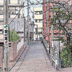 姿残す 菅のスケッチ 望月雪桜さん 町会サイトで連載【2020年7月3日号】