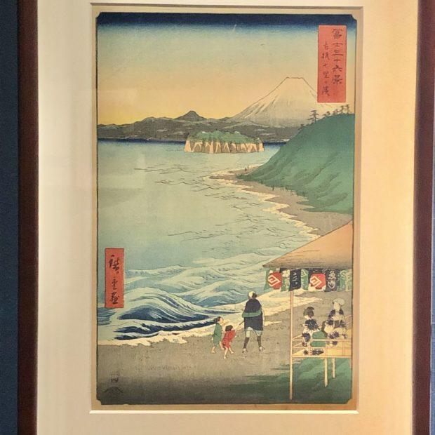 浮世絵で描かれた 富士山と江の島の構図の妙