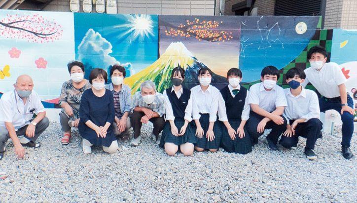 幸区小向町 「防災空地」を明るく 総合科学生が壁画制作【2020年9月11日号】