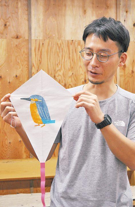 版画を作って凧で揚げるワークショップ「版画の凧揚げ~シバヒロに凧を飛ばそう~」町田市
