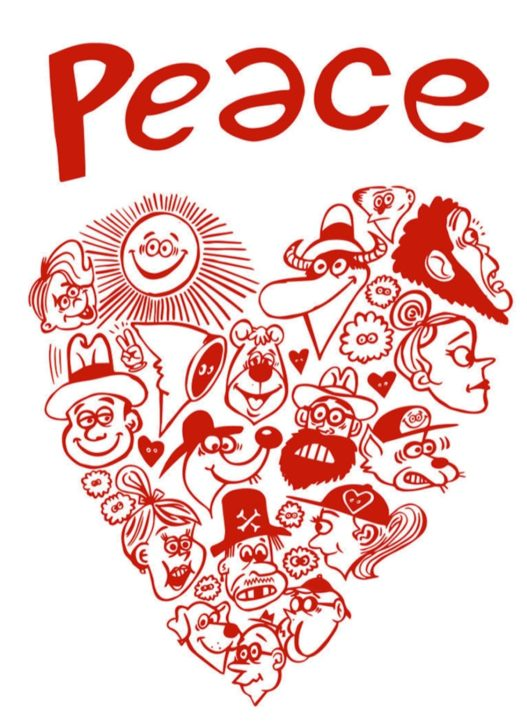 キャラクターデザイナーRyu Ambeさん「Peace」をテーマに個展@茅ヶ崎市