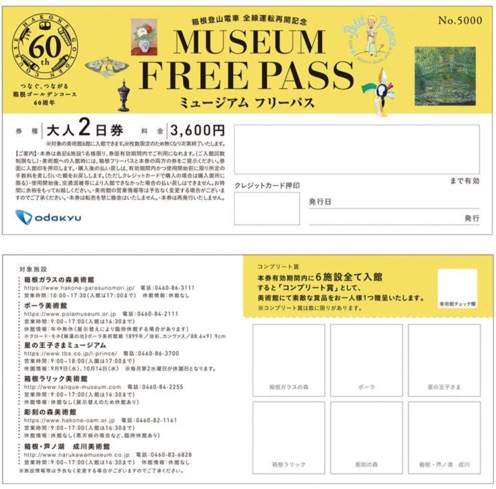 箱根【キャンペーン期間延長決定!】パスで美術館 入退館自由 9月1日から限定発売