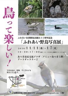 35周年記念の写真展 11月11日~17日「ふれあい自然探鳥会」@アミューあつぎ