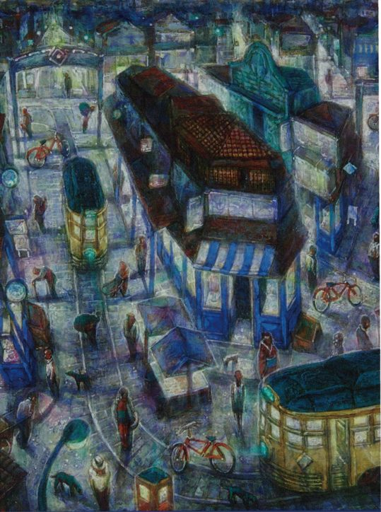 水彩、油絵など15点を展示ー玉虫さん作品展【国立市「画廊 岳」】