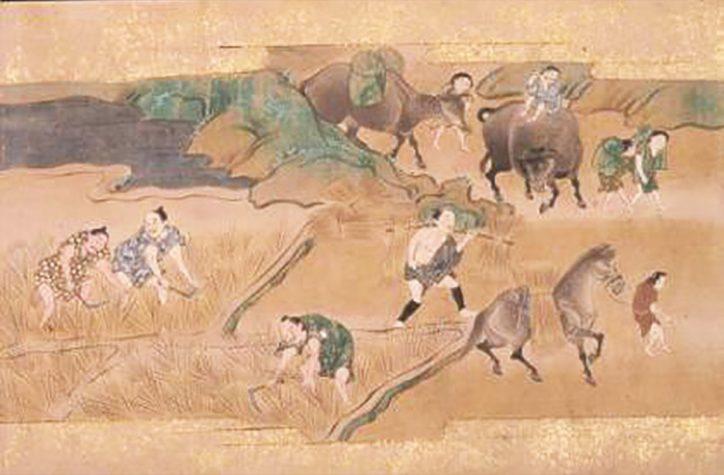耕作絵巻と農具を紹介『たはらかさね耕作絵巻』にみる農具」展@町田市立博物館