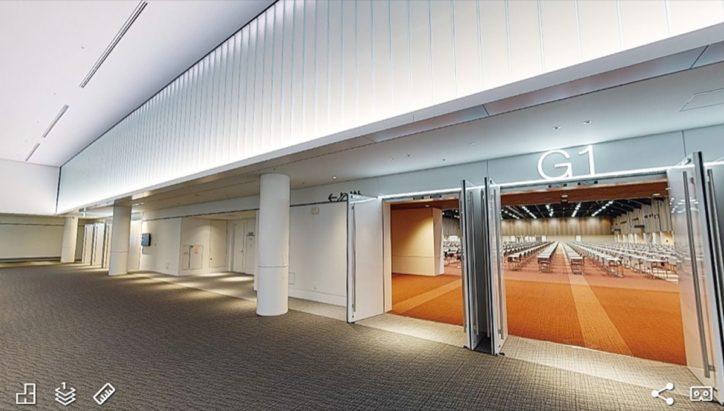 「パシフィコ横浜ノース」バーチャル内覧会 1階から4階まで3Dで体感