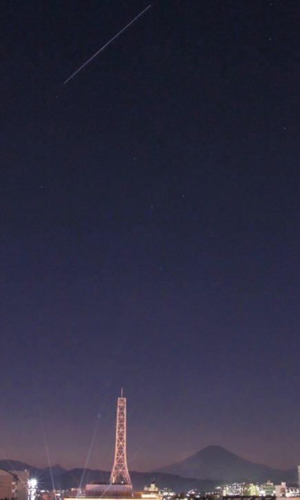 平塚で宇宙飛行士 野口さん見える? 夜空に国際宇宙ステーション