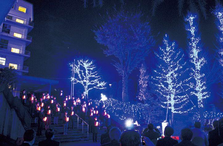 聖マリアンナ医科大学で医療従事者に「希望の光」届けるクリスマスイルミ点灯 (川崎市宮前区)