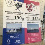 藤沢市役所に五輪カウントダウンボードが再登場中