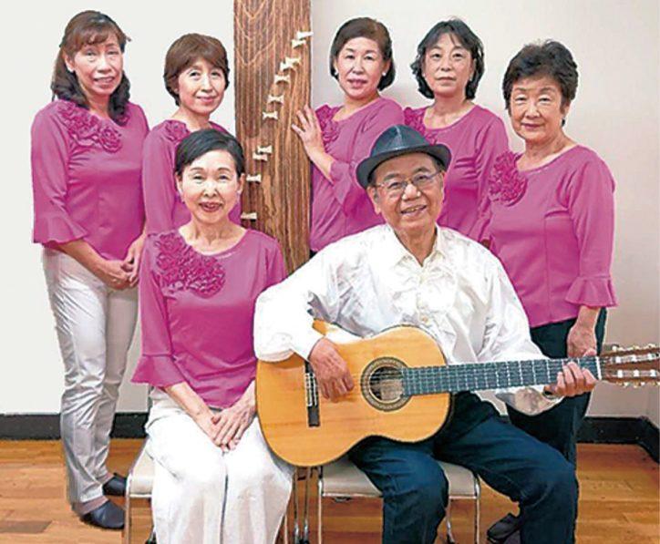 琴とギターの演奏会 2021年1月23日、横浜市・富岡西公園で