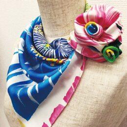 「3/4はスカーフの日」 シルクの魅力伝えるイベント@シルクセンター1階