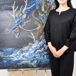 大磯・照ヶ崎海岸の風景からインスピレーションで描く「日本画展~蒼~」@そごう横浜店