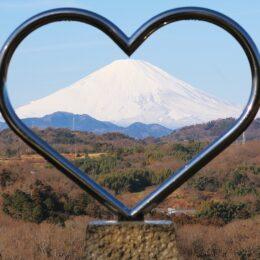 <記者レポ>ハートの間から雪化粧!@中井中央公園【中井町】