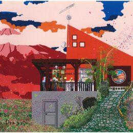 【秦野市】石庄庵テラスに 橋本ドラゴンさん手掛けるPCアート
