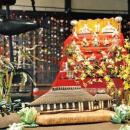 【横浜市】つるし飾り華やかに 「ひな祭りウィーク」都筑民家園で3月3日まで