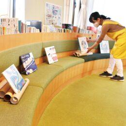 大井町図書館でユニークな取り組み「絵本」を活用してソーシャルディスタンス!