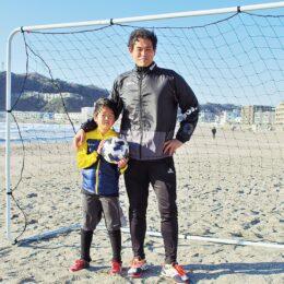 元フットサル日本代表の石渡さんが指導 逗子海岸でキーパー教室