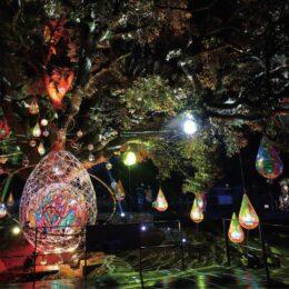 新イベント<光と音で演出>『ミラーボーラー光アート〜春の宵』@江の島サムエル・コッキング苑