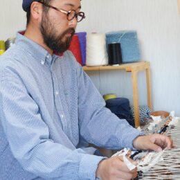 染織作家・河本蓮大朗さんの新作『時の布』展@ギャラリーピクトル《4/2~4日鎌倉・建長寺でも展示》