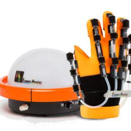 脳卒中や脳梗塞などの脳血管疾患の機能回復リハビリにも使用される、リハビリ補助ロボット「パワーアシストハンド」を体験してみました