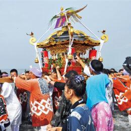 【2021年開催中止】暁の祭典「浜降祭」(はまおりさい) 茅ヶ崎西浜海岸で神輿が海へ【7月15日海の日】