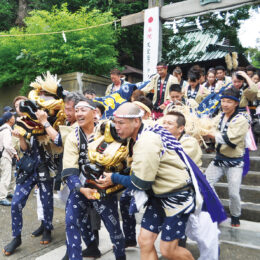 三崎海南神社・夏の例大祭で2021年も「唐櫃(からびつ)」が巡行【7月16・17日】コロナ禍で獅子・神輿は中止