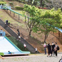 伊勢原市総合運動公園 に子どもの広場が完成! 展望広場も整備