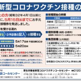 町田市【新型コロナワクチン接種のお知らせ】啓発動画や接種の流れがわかる動画も