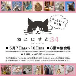 【横浜市】にゃんこ写真が楽しめる「ねこにすと34 らんどまーくねこ篇」グッズ販売も@そごう横浜店