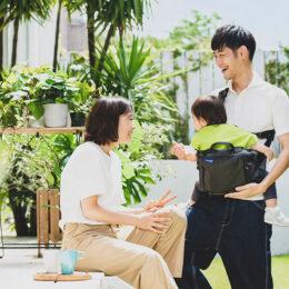 【試着会に潜入!】papakosoの新作『パパバッグ』スタイリッシュなバッグが「だっこひも」に早変わり!?