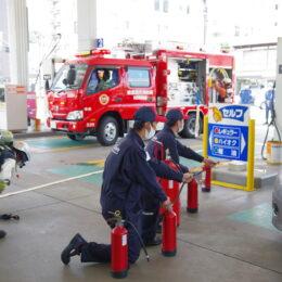 ENEOS(湘南菱油)が横須賀市消防局と合同訓練
