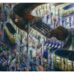 南大沢在住の画家・玉虫良次さんー銀座の画廊で個展開催@銀座:あかね画廊