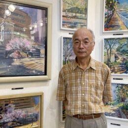 リーブギャラリー スケッチで横浜巡る 中区在住の画家 上原収二さんが回顧展