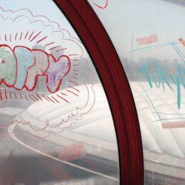 東京ドームシティの観覧車の窓に落書きができる!日本理化学工業・キットパスがコラボ中!