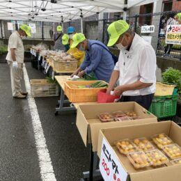 湘南地区まちぢから協議会が茅ヶ崎市中島で初の「朝市」 地産地消ねらい