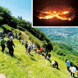 <2021年8月16日>100周年の『箱根強羅 大文字焼き』規模縮小で大文字の点火と花火のみ実施!