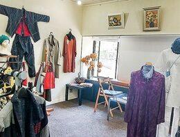 厚木市鳶尾 もりや亭で『鳥山洋子の古布服展』