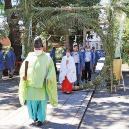無病息災を祈願  7月30日まで「茅の輪設置」@伊勢原市・石田子安神社