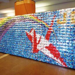 モザイクアート「再会の約束」14万羽の折り鶴に願いを込めて@シンコースポーツ寒川アリーナ