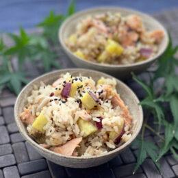 【9月の野菜はさつま芋】秋の味覚たっぷり♪さつま芋の炊き込みご飯